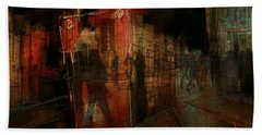 Passers In The Night Beach Towel by Jim Vance