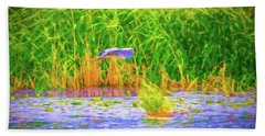 Beach Towel featuring the photograph Passing Artistic. by Leif Sohlman