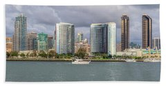 Passing By A Skyline Beach Towel