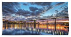 Passing Clouds Above Chattanooga Pano Beach Sheet by Steven Llorca