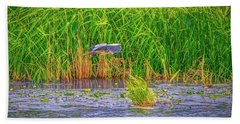 Beach Towel featuring the photograph Passing.  by Leif Sohlman