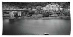 Passing Storm In Chattanooga Black And White Beach Towel