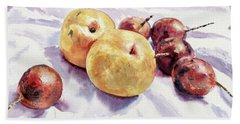 Passion Fruits And Pears Beach Towel