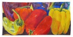 Passionate Peppers Beach Towel