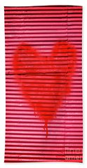 Passionate Red Heart For A Valentine Love Beach Towel