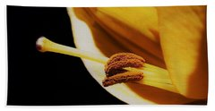 Passionate Yellow Lily Beach Towel