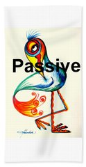 Passive Taino Bird Beach Towel