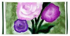 Pastel Bouquet Painting Beach Sheet