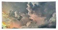 Pastel Clouds Beach Sheet