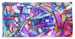 Pastel Kaleidoscope Beach Sheet