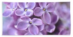 Pastel Lilacs Beach Towel