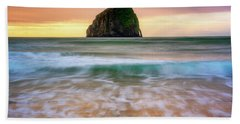 Beach Towel featuring the photograph Pastel Morning At Kiwanda by Darren White