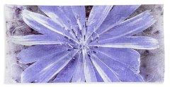 Purple Blue Daisy Beach Towel
