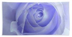 Pastel Purple Rose Flower Beach Sheet