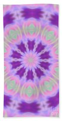 Pastel Purple Wheel Beach Towel by Shirley Moravec