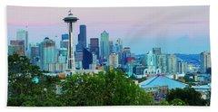 Pastel Seattle Beach Towel