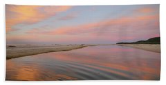 Pastel Skies And Beach Lagoon Reflections Beach Towel