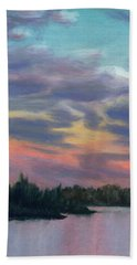 Pastel Sunset Beach Towel