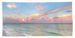 Pastel Sunset On Sanibel Island Beach Towel