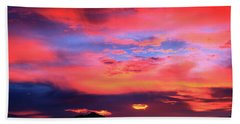 Pastel Sunset Beach Sheet