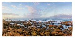 Pastel Tone Seaside Sunrise Beach Towel