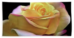 Pastel Yellow Rose Canvas Proofed Beach Towel