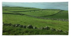 Pastures Of Terceira, The Azores, Portugal Beach Sheet by Kelly Hazel