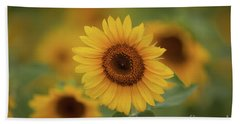 Patch Of Sunflowers Beach Towel