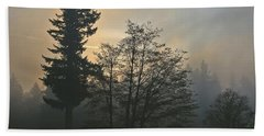 Patchy Morning Fog Beach Towel