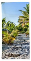 Path Along The Palms Beach Towel