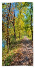 Path Through Fall Beach Towel