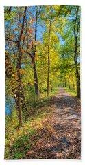 Path Through Fall Beach Towel