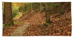Path To Autumn Beach Towel