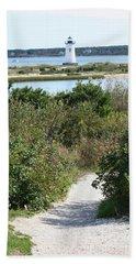 Path To Edgartown Lighthouse Beach Towel