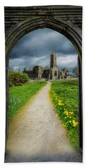 Beach Towel featuring the photograph Path To Ireland's Quin Abbey, County Clare by James Truett
