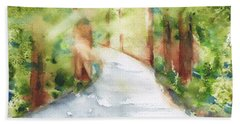 Path To Light Watercolor Beach Towel