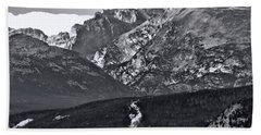 Beach Towel featuring the photograph Path To Longs Peak by Dan Sproul