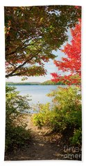 Beach Towel featuring the photograph Path To The Lake by Elena Elisseeva