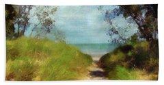 Path To Whihala Beach 2 Beach Sheet by Cedric Hampton