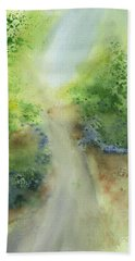 Pathway  Beach Towel by Frank Bright