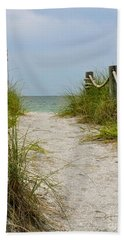 Pathway To The Beach Beach Sheet by Carol  Bradley