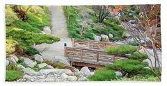 Pathway Trough Japanese Garden Beach Sheet