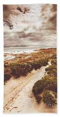 Walkway Photographs Beach Towels