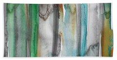 Patina- Abstract Art By Linda Woods Beach Towel