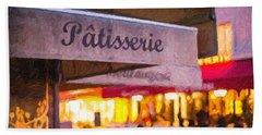 Patisserie - Paris Art Print Beach Towel
