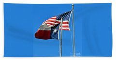 Patriot Proud Texan  Beach Towel