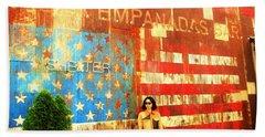 Patriotic Empanadas Wall In New York  Beach Towel