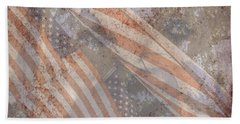 Patriotic Lab Beach Sheet by Mary Ward