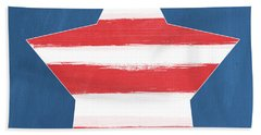 Patriotic Star Beach Towel