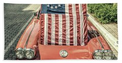 Patriotic Vette Beach Towel